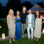 Samantha With Debra Halpert, Hilaria and Alec Baldwin, and Michael Braverman